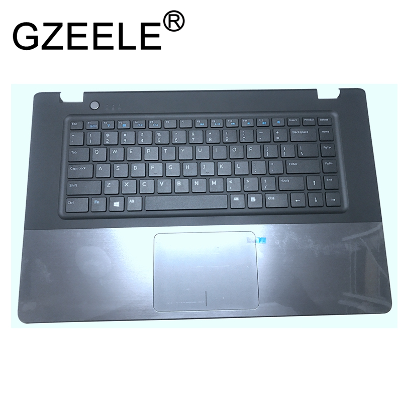 цена на GZEELE New Palmrest topcase for DELL for VOSTRO 5560 V5560 P/N: RGYVG US Keyboard Upper cover with Touchpad no fingerprint black