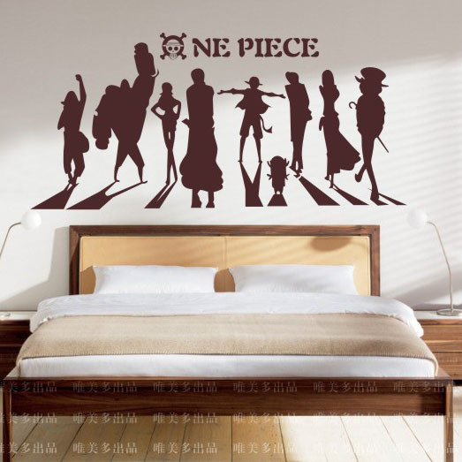 free shipping,wall stickers ,one piece manga cartoon stickers for