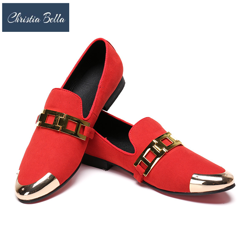 Christia Bella Buckle Handcraft Men Red Velvet Shoes Men Smoking Slipper and Fashion Party Loafers Plus Size Men Flats Summer fabric buckle handcraft men black velvet shoes men smoking slipper and fashion party loafers plus size men flats size us 4 17