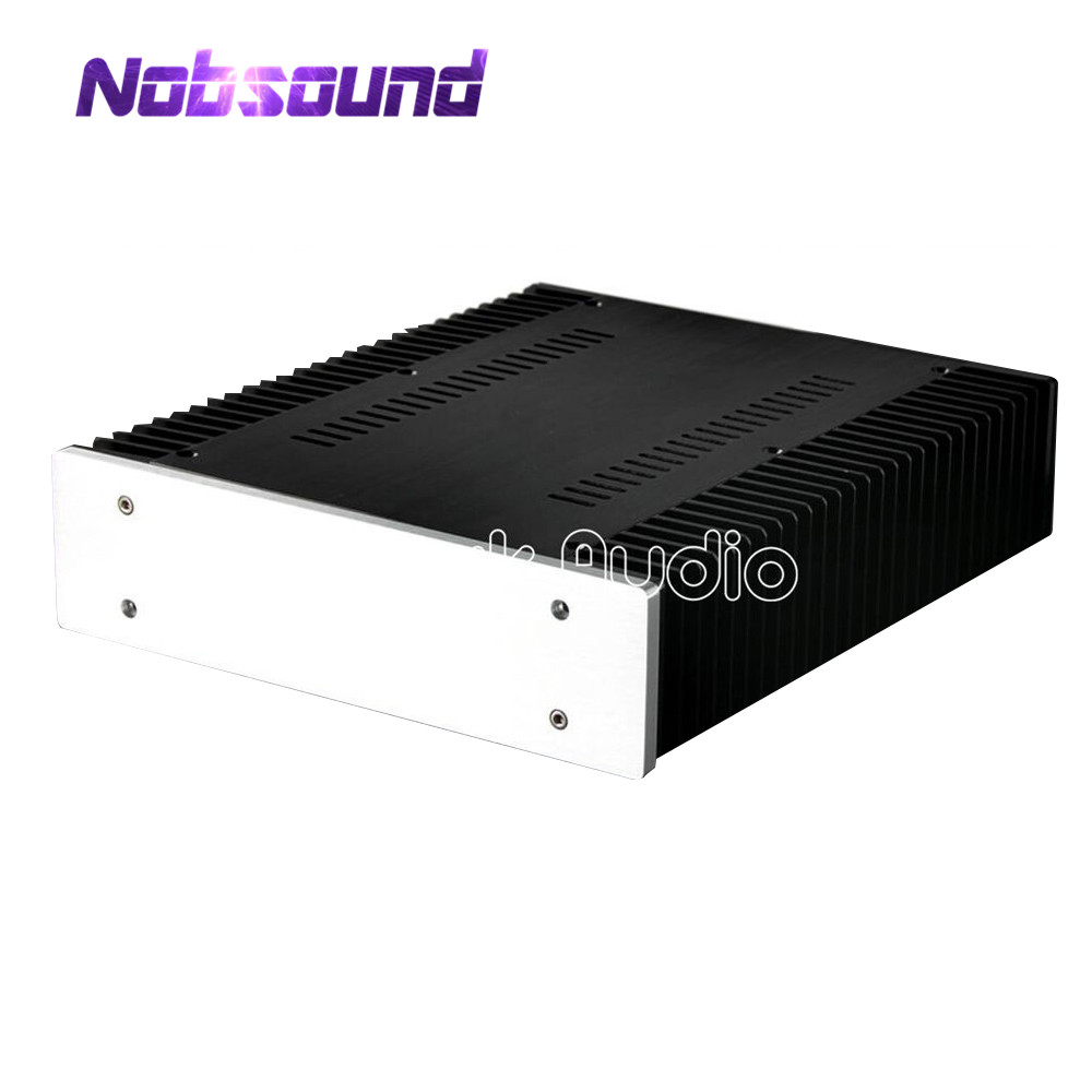 Nobsound DIY Full Aluminum Power Amplifier Chassis Blank Panel Case New Enclosure PSU Box nobsound hi end cnc aluminum chassis power amplifier enclosure diy case w361 h85 d270mm