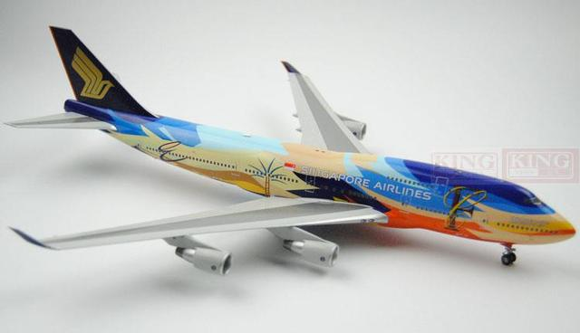 B747-400 9V-SPK 9V-SPL Singapore BBOX Airlines seven bird 1:200 commercial jetliners plane model hobby