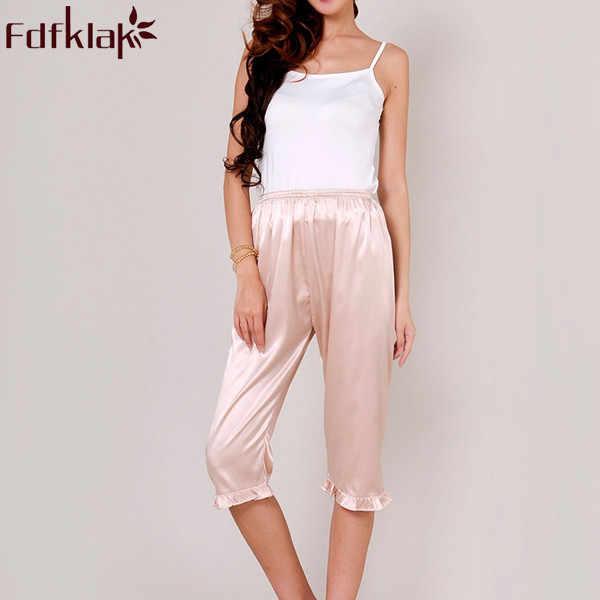 18e9385270 Women s Lounge Pant 2017 Spring Summer Faux Silk Plus Size S-XXXL Pyjama  Trousers Sleep