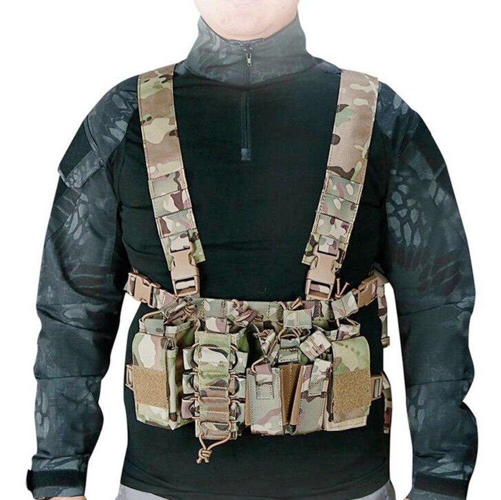 1000D Nylon Tactique Gilets Léger Sangle Balle Clip Sac Gilet de Combat En Plein Air CS Déposées Jeu De Tir De Chasse Gilet