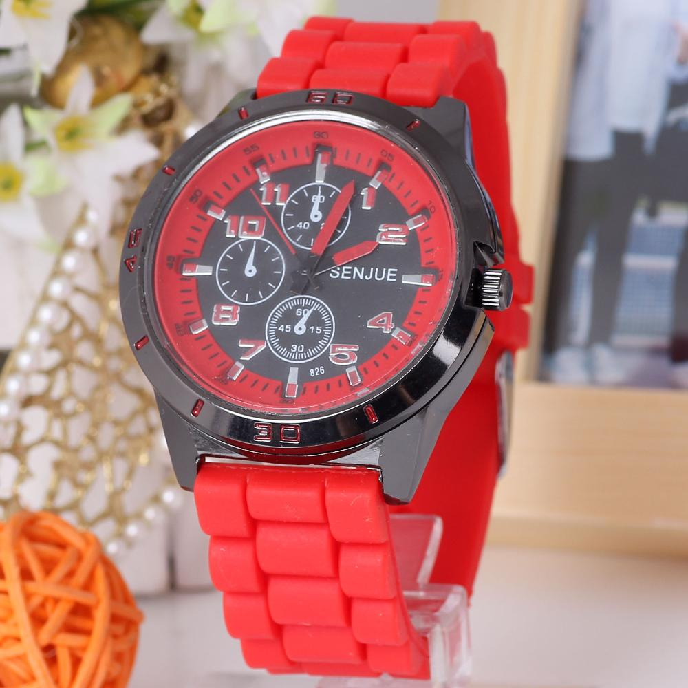 Summer Style New Accurate Man Red Three little Dials Sport Silicone Band Quartz Wrist Watch - cn1510659978 store