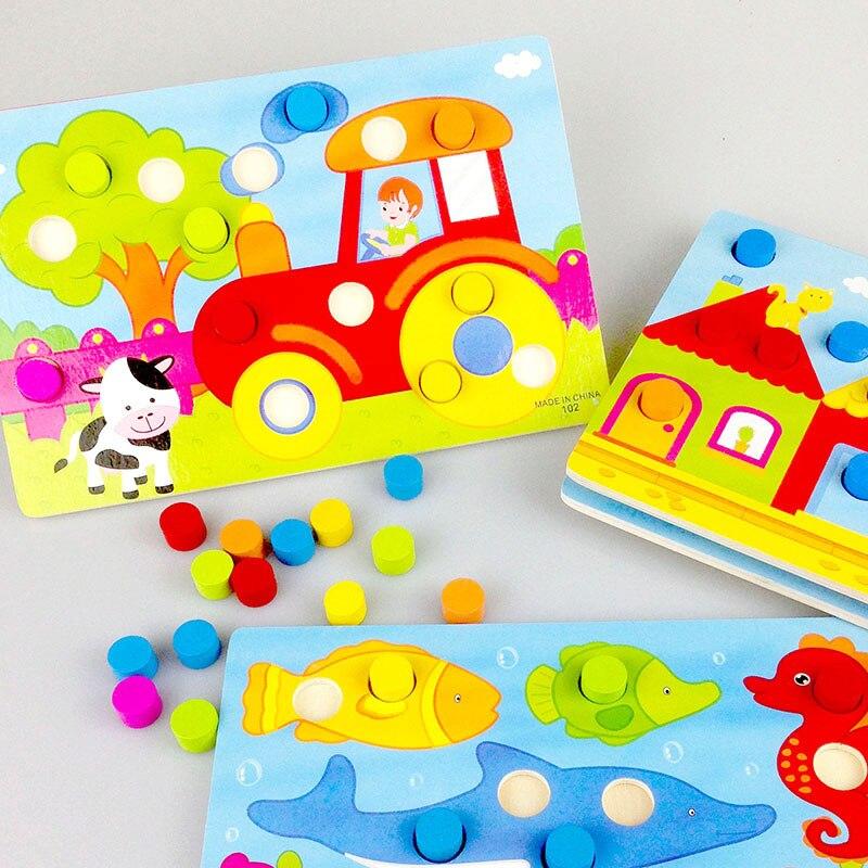 Tablero de cognición de color Montessori Juguetes educativos para - Educación y entrenamiento - foto 2