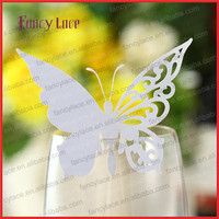 50pcs Laser Cutting Wedding Decorations Place Name Cards, Laser Cut Name Card Paper Butterfly Hanging Decorations