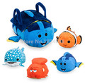 Tsum Tsum Finding Dory Mini Plush Toy Dory Carrier Tote Bags Dory Nemo Hank Destiny Cute Soft Smartphone Cleaner Kids Toys Gifts