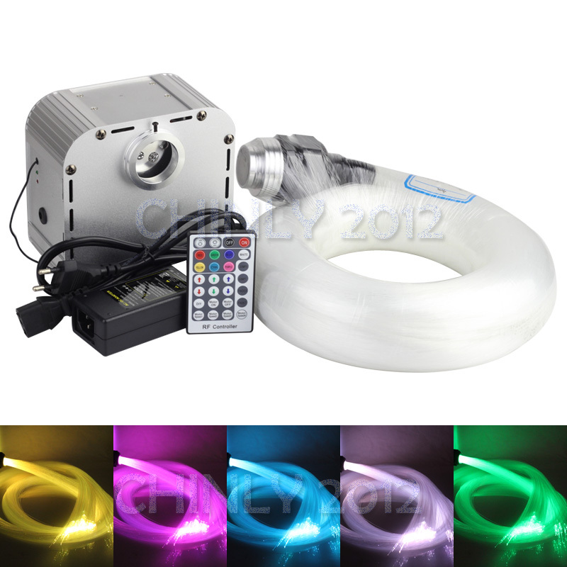 NEW 32W RGB 4-speed Twinkle LED Fiber Optic star ceiling kit light 800pcs 4m 0.75mm +28key RF remote optic fiber light kit 32w twinkle starry sky ceiling light 32w rgb ir for decoration project floor light underwater lighting