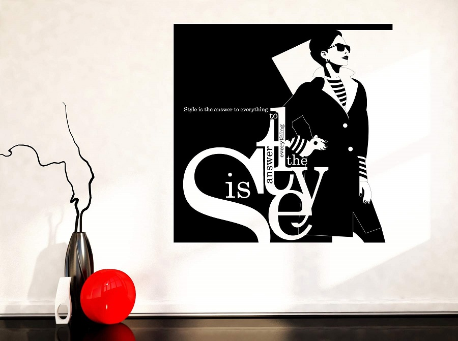 Wall Vinyl Decal Phrase Style is the Answer to Everything Fashion Decor Unique Gift 2LR5-in Wall Stickers from Home & Garden