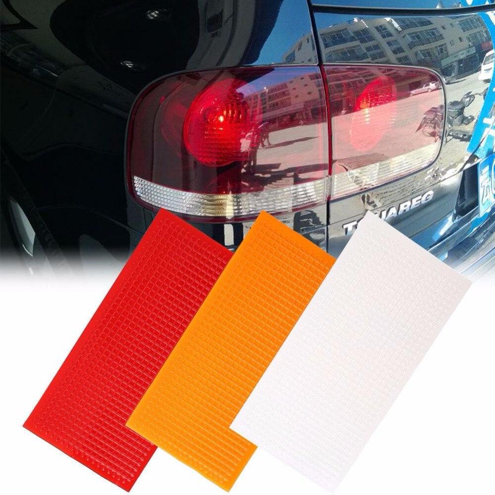Vehemo Car Light Taillight Crack Repair Kit 3Pcs/Set Lamp Film Crack Repair Film Scratch Protection Orange Red Transparent Film