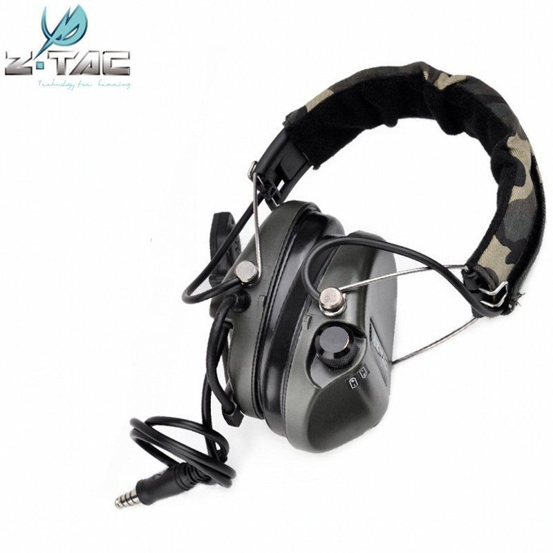 Z Tactical Sordin Headset Noise Reduction Earphone Airsoft Military Wargame Hunting Shooting Headphone Official Version Z111