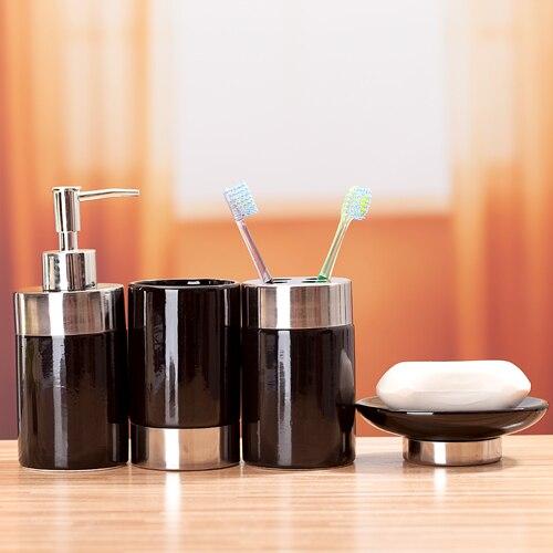 fashion black ceramic bathroom set bathroom supplies four