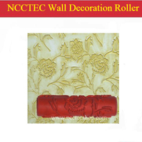 7 180mm Rubber Wall Decoration Paint Roller Has Rose Flower Type 244 Sorts Use It With