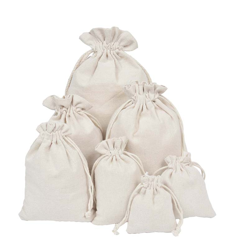 High Quality Wholesale Price Natural Resuable Jute Linen Drawstring Pouch Packaging Gift Bag Logo Printed Christmas Dropshipping