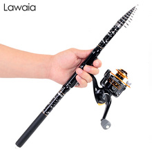 Lawaia Rock Fishing Rod Sandpiper Set Small Carbon Fiber Short Section Hand Sea Dual-use Throwing Gear Tools