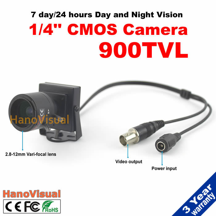 ФОТО High quality! 1/4'' CMOS 900 TVL 2.8-12mm vari-focal Mini Camera effective distance of view 0-40m can see the people up to 15m
