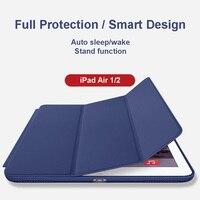 Akıllı kabuk case apple ipad air 1/2 için (ipad 5/6), Ultra Slim Hafif Standı ile Akıllı Kapak Oto Wake/Uyku Özelliği,