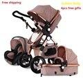 Envío Gratis bebé tierras altas-scape de bebé 3 en 1 plegable portátil cochecito 2 en 1 de lujo de transporte