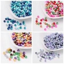 4e62eaad80fb 4 6 8mm mezcla caliente perlado de perlas de vidrio suelto joyería DIY  Bijoux accesorios conclusiones perlas de la bola para col.
