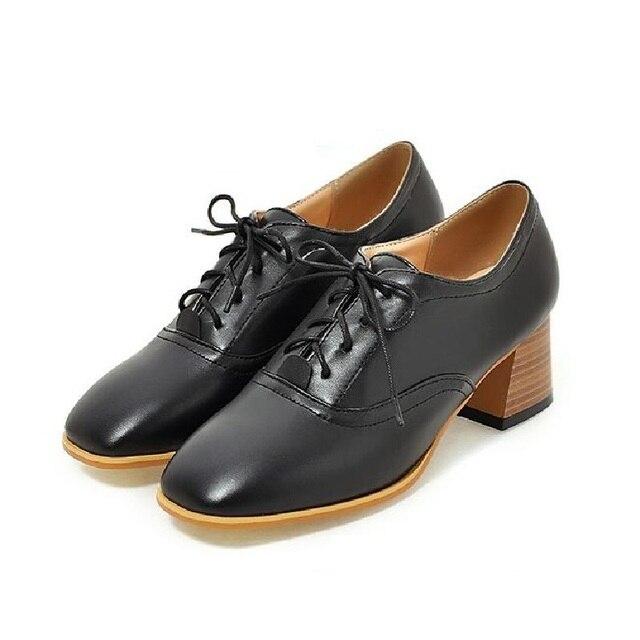 Alto Tacón Zapatos Encaje Viento De Retro England College pqY7xZ