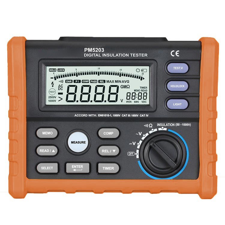 OFFCIAL PROTMEX Analog and Digital 1000V MS5203 Insulation Resistance Tester megger meter 0 01 10G Ohm