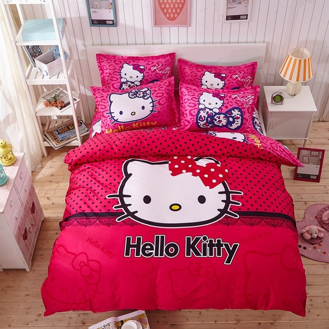 Hello Kitty Bedding Set Children Cotton Bed Sets Hello