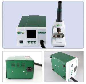 Image 4 - الرصاص قابل للتعديل الهواء الساخن أفضل 863 محطة إعادة العمل لحام اللمس شاشة LCD 1200 W 220 V للهاتف CPU PCB