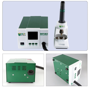 Image 4 - Lead free Adjustable Hot Air best 863 Rework Station Soldering Touch Screen LCD 1200W 220V For Phone CPU PCB