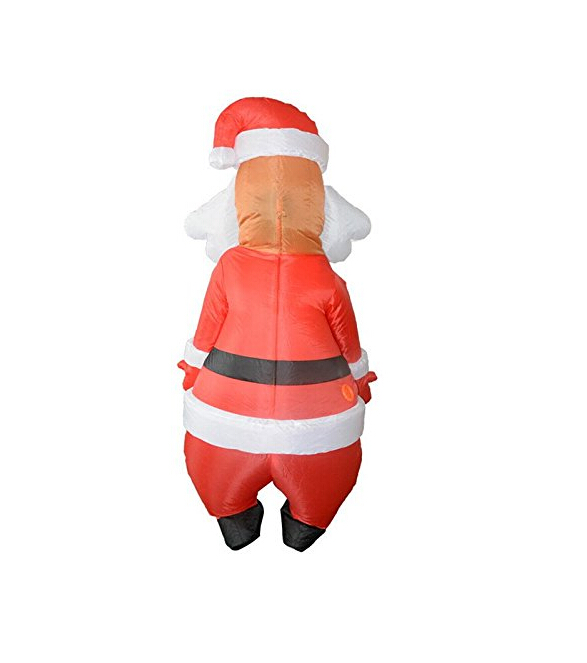 Christmas Inflatable Costume Santa Claus Blow Up Adult Fancy Dress Costume XMAS Decorations
