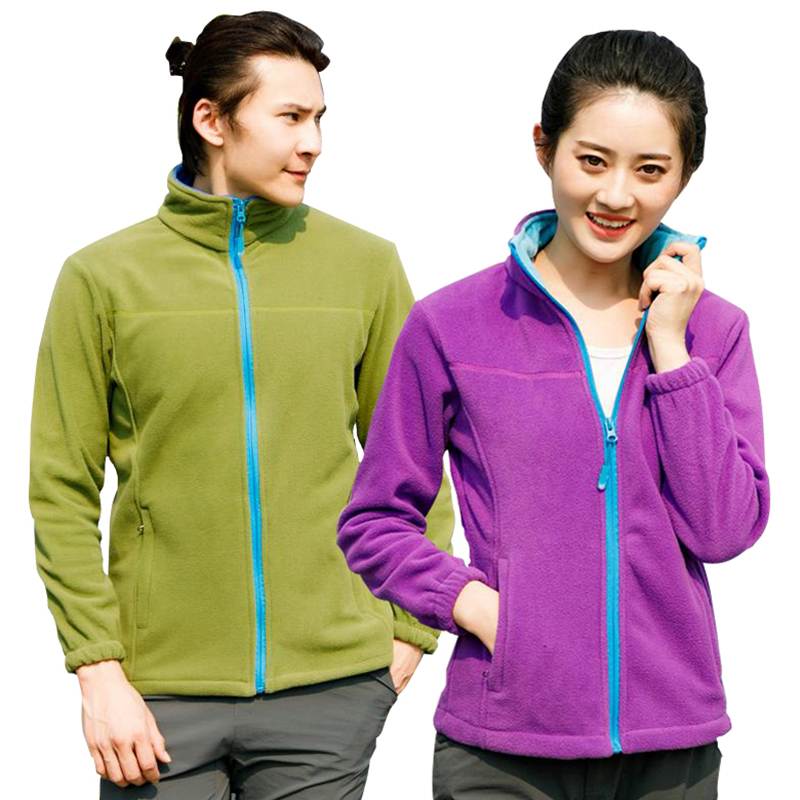 2019 Winter Outdoor Windproof Thermal Fleece Cardigan Coat Men Women Keep Warm Breathable Hiking Jacket Lovers Outdoor Jackets
