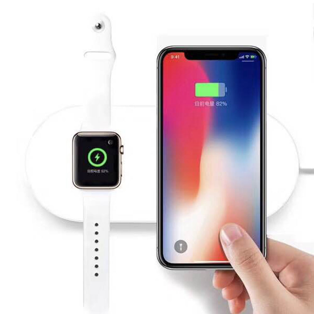 Espanson Wireless Charger Pad 2-in-1 For Apple Watch iWatch 2 3 7.5W Fast Charging for iPhone X 8 8 Plus Mobile Phone Chargers зарядное устройство satechi wireless charging pad для iphone 8 8 plus x rose gold st wcpr