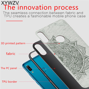 Image 3 - Huawei Y6 2019 Shockproof Soft TPU Silicone Cloth Texture Hard PC Phone Case For Huawei Y6 2019 Back Cover Huawei Y6 Prime 2019