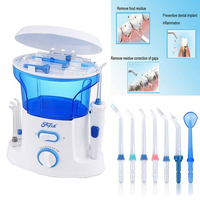 New Dental Floss Water Oral Flosser Home Pack Dental Irrigator Oral Teeth Cleaning Water 7 Pcs Tips, 600ml Water Tank Free ship