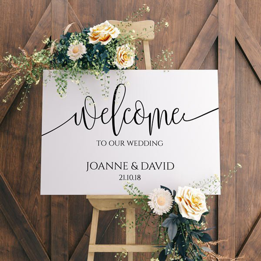 Custom Welcome to the Wedding of Decal Sticker DIY Decoration for Mirror Sign Board