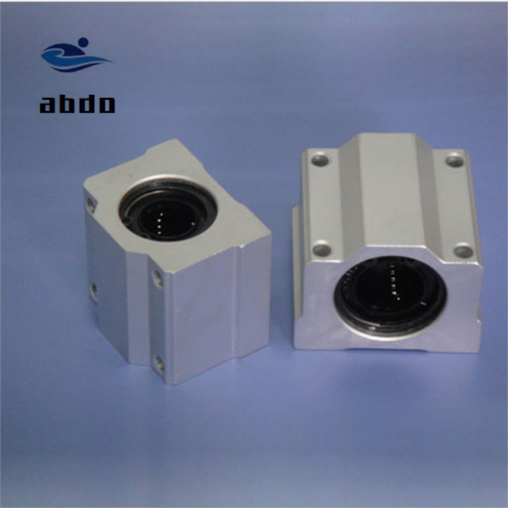 High quality <font><b>4pcs</b></font> <font><b>SC8UU</b></font> SCS8UU 8mm Linear ball bearing block with LM8UU bush pillow block linear Free shipping image