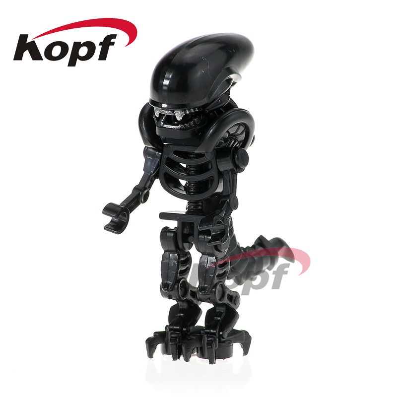 Single Sale Super Heroes Skeleton Skull Alien One-Eyed Halloween Cyclops Omino Snake Undead Building Blocks Children Toys PG1164 airsoft adults cs field game skeleton warrior skull paintball mask