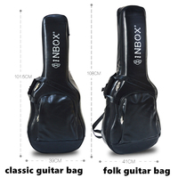 High quality leather guitar bag for Acoustic/ classic / folk / electric guitar bag bass guitar bag guitar accessories parts