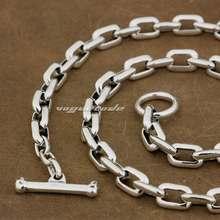 Мужское серебряное байкерское ожерелье качалка от 8 до 36 дюймов