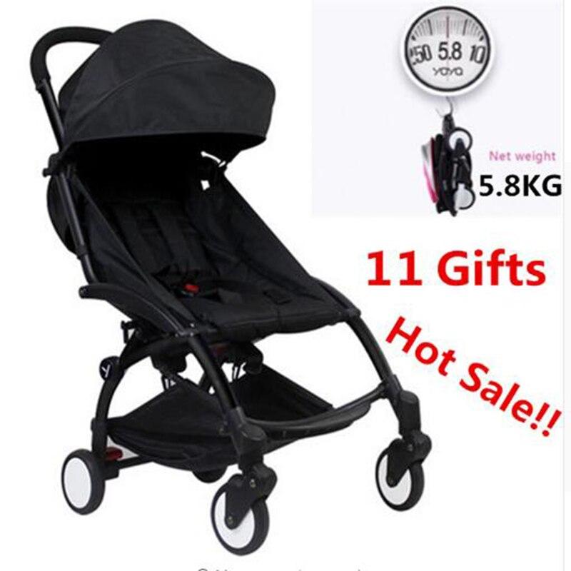 Original bébé Yoya poussette chariot voiture pliante bébé poussette Buggy léger landau Pousset Bebek Arabasi Babyzen Yoyo poussette
