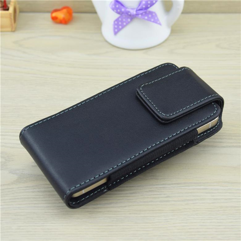 4.5-5.1 inch For iPhone 6 Belt Clip Holster Flip Leather Case Cover For Samsung Galaxy J5 S7 Huawei P8 lite Mobile Phone Bag >
