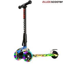 Roller-Rad-justierbare Höhen PU-blinkende Rad-Tritt-Roller mit patentiertem faltendem System für Kinderkinder 3-17 Einjahres