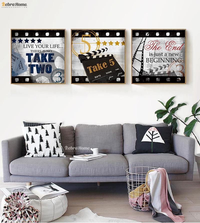 Americký styl abstraktní retro filmové plakáty a tisky - Dekorace interiéru