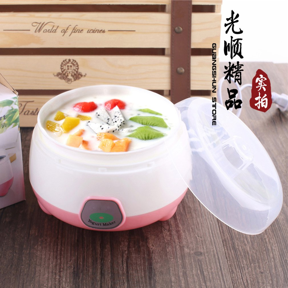 220V Electric Automatic Yogurt Maker Mini Portable Yogurt Making Machine Plastic Container Kitchen Appliance