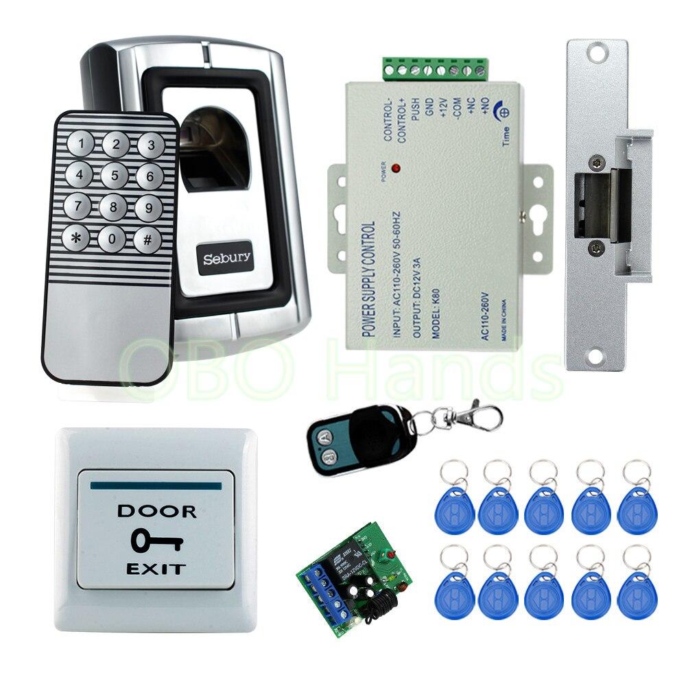 Livraison gratuite système de verrouillage de porte d'empreinte digitale de haute qualité pour le contrôle d'accès avec verrouillage de sécurité NC ouvert lorsque mis sous tension