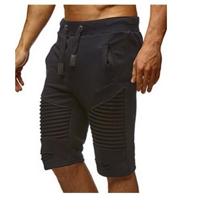 shorts men shorts fitness elastic tie pockets trade stripe shorts men