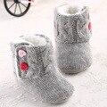 Invierno Bebé de Nieve Botas de Piel de Lana de Punto Espesar Niño Caliente Zapatos Del Bebé Primer Caminante Del Bebé Zapatos de Bebé Recién Nacidos Calzado