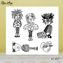 ZhuoAng Grotesque Woman Clear Stamps/Stamps For DIY Scrapbooking/Card Making/Album Decorative Silicone Stamp Crafts