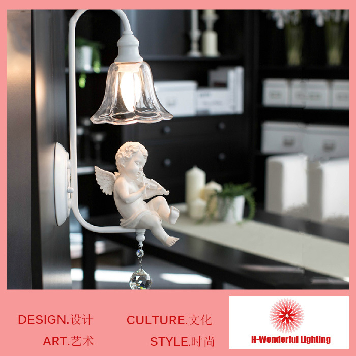 2014 New Modern fashion wall lamps Resin&Art Iron K9 crystal wall bedside Light  E14 wall mounted lights For children room дпа 2014 9 класс днепропетровск