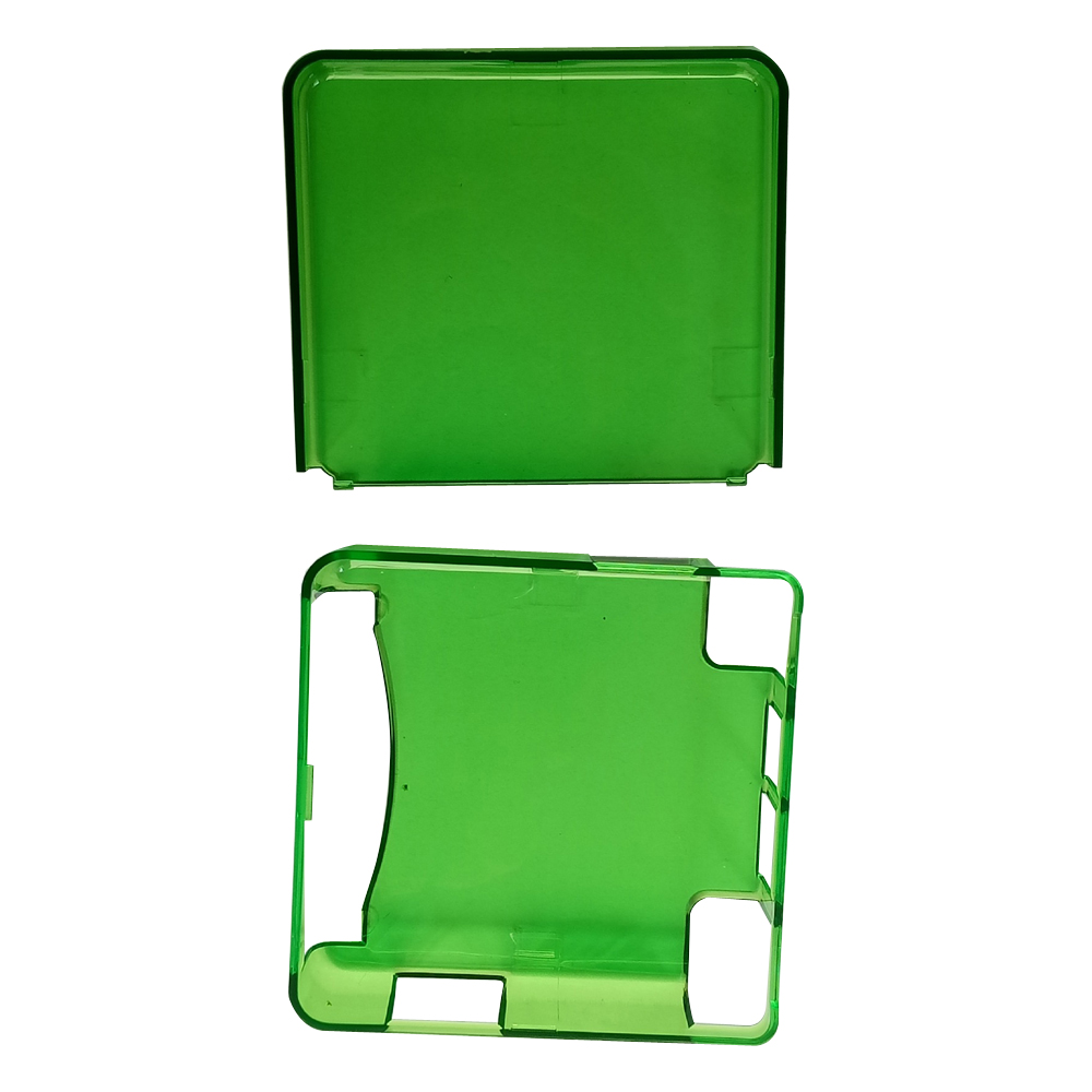 30sets Transparent green  Protective Cover Case Shell Housing For Gameboy Advance SP for GBA SP Game Console Crystal Cover Case