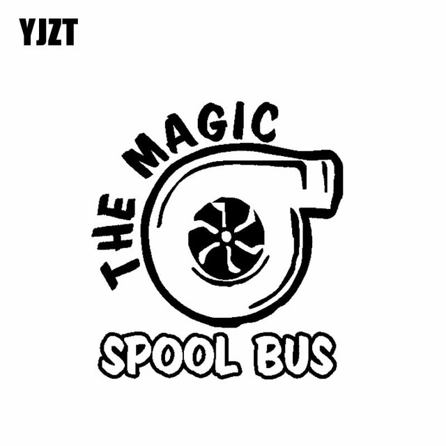 Yjzt 13 7cm15 2cm The Magic Spool Bus Vinyl Decal Car Sticker